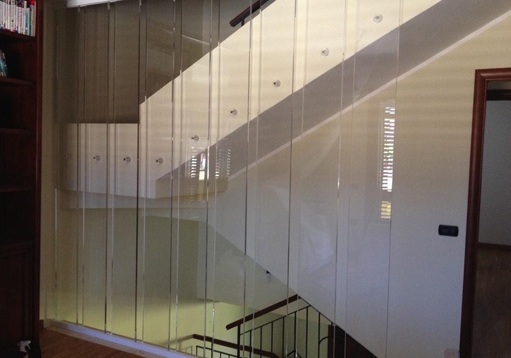 Scale plexiglass 0014 protezione scala trasparente neon europa