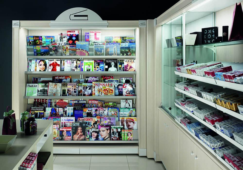 Galleria arredo negozi neon europa for Arredamento edicola
